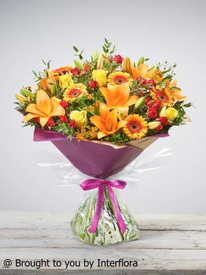Extra Large Happy Birthday Golden Glory Hand-tied