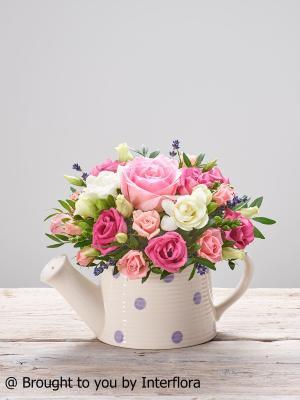 Pink Flourish New Baby Arrangement