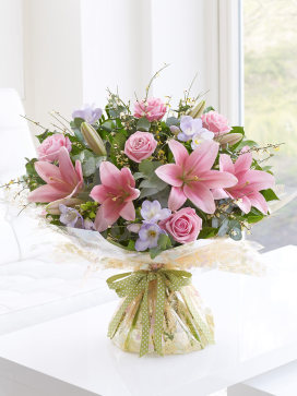 Rose Lily and Alstromeria