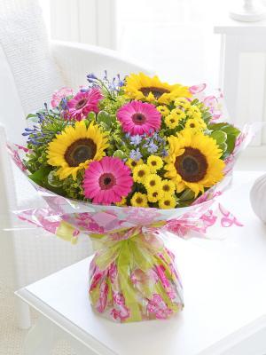 Sunflower and Gerbera Hand-tied