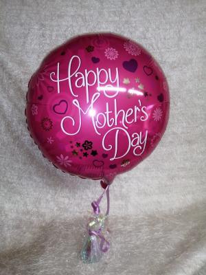 Happy Mother's Day script balloon
