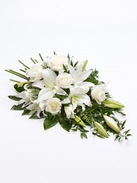 White Rose and Lily Spray